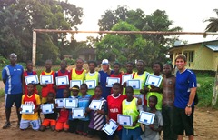 Womens team with their coaching certificates