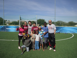 Harvard Soccer with Special Olympics and Coaches Across Continents Namibia