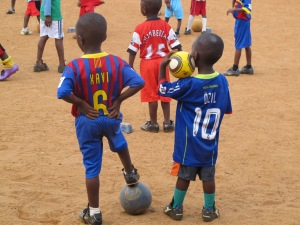 Three great players turned up for this year's training in Liberia!