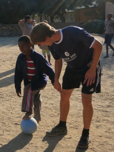 Coach Charlie in his first week in Namibia