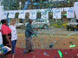 Dr. Fenera Mkangara and Liz Lloyd officially launch the GOAL program in Tanzania