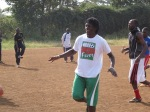 Coach Morris helps coach the Kenyan National Amputee Team