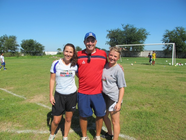 Coaches Emily, Brian and Helena during our first day of training with Indochina Starfish!