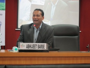 Abhijeet (Slum Soccer) also spoke on the panel