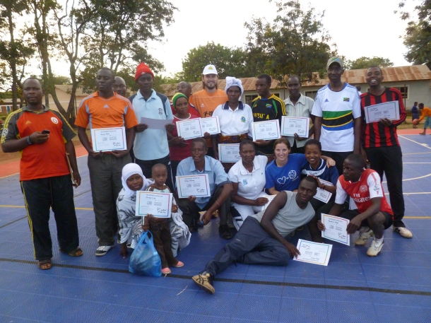 After a successful week coaches proudly received their certificates